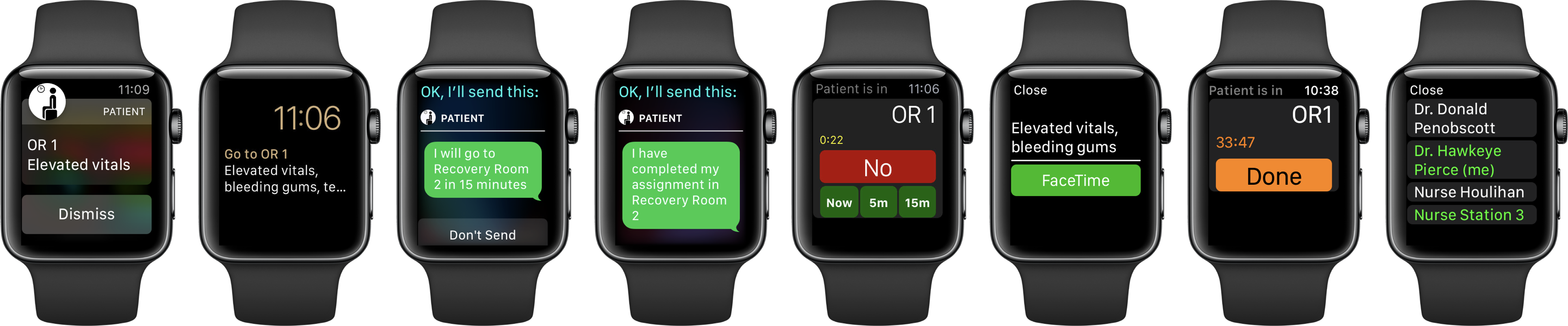 The Doctor app for Apple Watch provides complete access to patient assignments and telehealth services.
